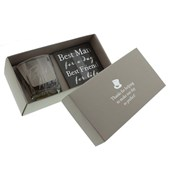 Widdop  Amore Whisky Glass & Coaster  Best Man