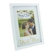 "Frame with Mr & Mrs Gold Words 5"" x 7"""
