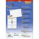 Pack 30 Sheets 8 White Labels Per Sheet