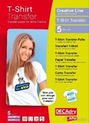 Decadry A4 Light T-Shirt Transfers Pack 5