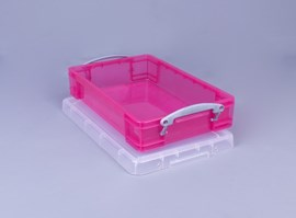 Really Useful Box 4L Trans Pink