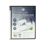 A4 40pkt Black Presentation Display Book