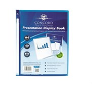 A4 40pkt Blue Presentation Display Book