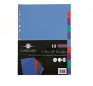 #10 Part Neon PP Subject Dividers 120 micron#
