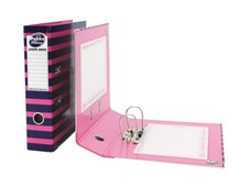 A4 Pukka Navy Pink Lever Arch File