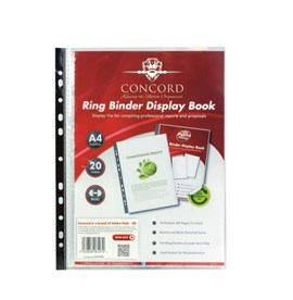 Ring Binder 20 Pkt Clear Display Book
