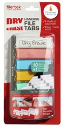 Pack 10 Asst Dry erase Suspension File tabs with pen