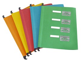 Eason 10 Pack A4 Suspension Files Assorted Colours