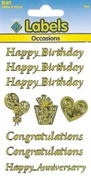 FOIL OCCASIONS LABELS GOLD #