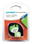 DYMO LetraTag Tape 12mm x 4mm Roll Paper White pack of 1