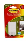 Command Picture Hanging Strips 4x White Medium Carded