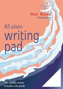 Owl Brand 100 Sheets Plain Writing Pad (80gsm) - Size: A5