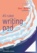 Owl Brand 100 Sheets Ruled Writing Pad (80gsm) - Size: A5