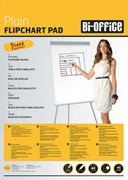 Bi-Office Flipchart Pad, 40 sheets, A1, Plain