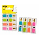 Post-it Index Small 4 colours(35 of each)in clear dispenser