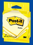 Post-it® Notes Canary Yellow 2 Pads