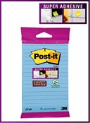 Post-it Lined 45 sheet Blue Super Sticky Notes