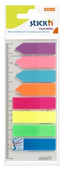 Assorted Neon Film Index,  Semi Transparemt