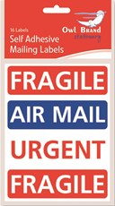 16 Pack Self Adhesive Mailing Labels Fragile Urgent #