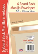 Owl Brand Manilla Board Back Envelopes - Size: C5 (Pack of 6)