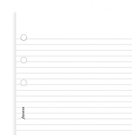 Filofax White Ruled Notepaper A5 Refill