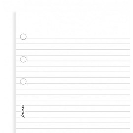 Filofax White Ruled Notepaper Pocket