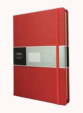 Collins Legacy A5 Notebook Red