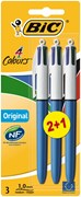 Bic 4 Colour Ball Pen 2+1 Classic Free