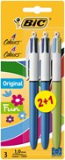 Bic 4 Colour Ballpen 2 & 1 Free Carded