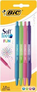 Bic Soft Feel Fun 4pk