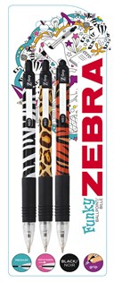 Z-Grip Animal Pack of 3 with  Black Ink