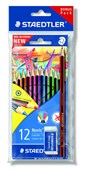 Pack 12 Noris Colouring Pencils with free Graphite Pencil +