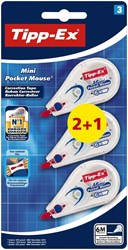 Tippex Mini Corr.Roller 2+1 Free Carded