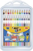 Bic Kids Wallet 36 - 12 Felt Pens12 Pencils12 Crayons