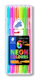 6 Assorted Triplus Neon Colour
