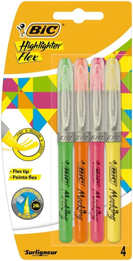 Bic Highlighter Flex 4pk
