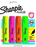 Card 4 Sharpie Asst Colour Fluo XL Highlighters