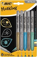 Bic Marking Colours Metallic 5pk