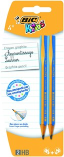 CARD 2 BIC KIDS HB LEARNER PENCIL EVOLUTION GRAPHITE