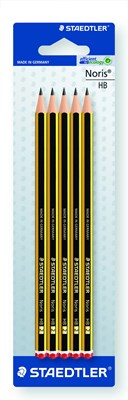 Noris Pencils  Card 5 X Hb