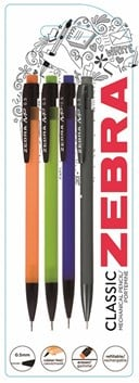 Zebra Mechanical Pencil Pack of 4