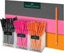 #Grip Sparkle Pencil Neon Black Pink & Orange #