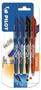 Pilot Asst Frixion Erasable Quad Pack(Black/Blue/Red)