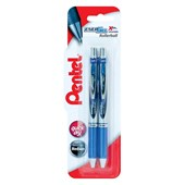 Energel Xm Retractable R/Ball Blue Twin Pk