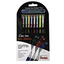 Wallet 8 Dual Metallic Gel Roller Pens Mixed Colours