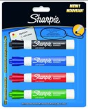 Sharpie Card 4 Asst Whiteboard Markers Bullet Tip - Black Bl
