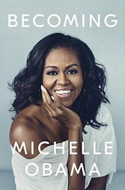 Book cover of Michelle Obama's memoir Becoming