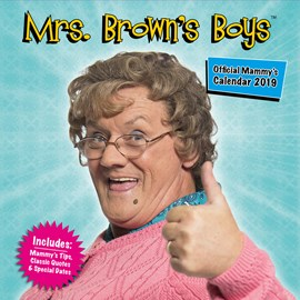 Mrs Brown's Boys Official 2019 Calendar - Square Wall Calendar Format by