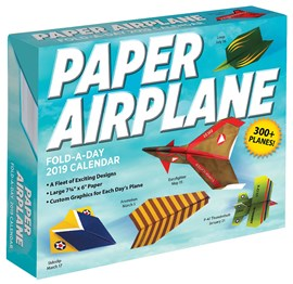 Paper Airplane Fold-a-Day 2019 Day-to-Day Activity Calendar