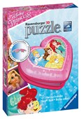 Disney Princess Heart Shaped 3D Puzzle - 54pc